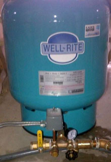 EADES WELL DRILLING Well Water Pump and Pressure Tank Systems Residential Large Pressure Tank